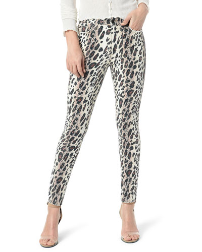 The Charlie Ankle Skinny Leopard-Print Jeans