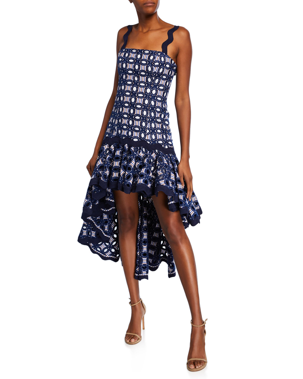 Alexis Dresses EMBROIDERED HIGH-LOW DRESS