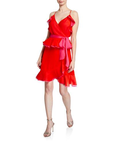Karla Sleeveless Ruffle Wrap Dress