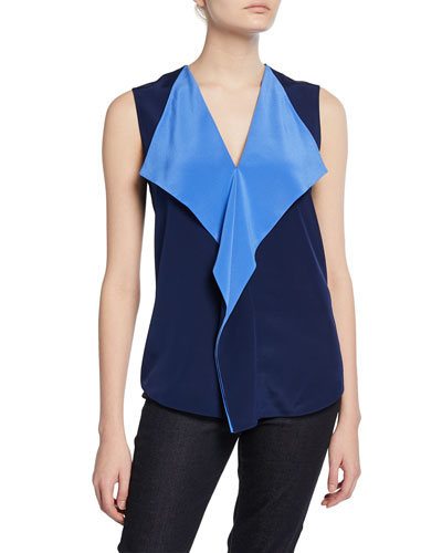Isabel Draped Sleeveless Top