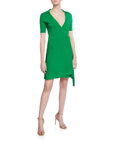 Zayla Short-Sleeve Wrap Dress