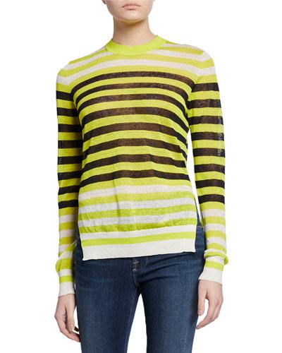 Kayla Striped Crewneck Sweater
