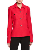 St. John Collection Gail Button-Front Jacket with Chest