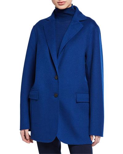 Blue Double Face Jacket | Neiman Marcus