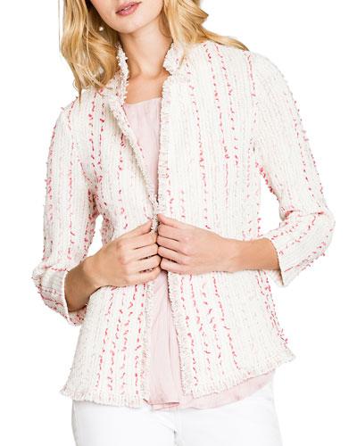 Spring 3/4-Sleeve Fringe Jacket