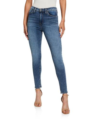 Barbara High-Waist Super Skinny Ankle Jeans