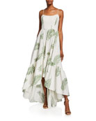 Mestiza New York Cleo Palm Leaf Embroidered High-Low