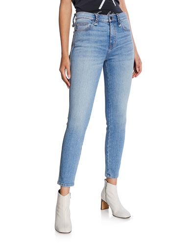 The Braided High-Waist Stiletto Skinny Jeans