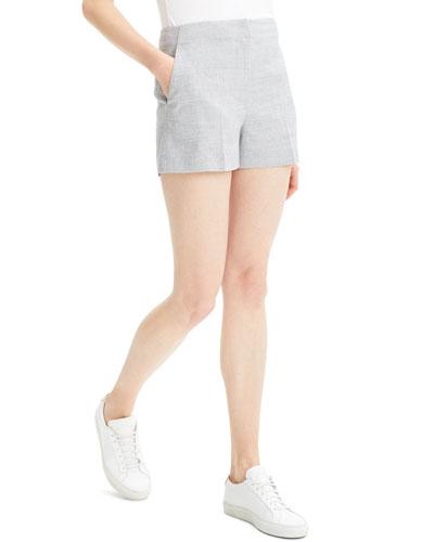 Mini Eco Sharkskin Linen Shorts