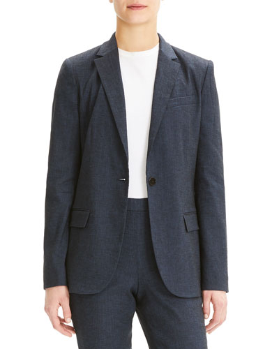 Staple One-Button Eco Sharkskin Blazer