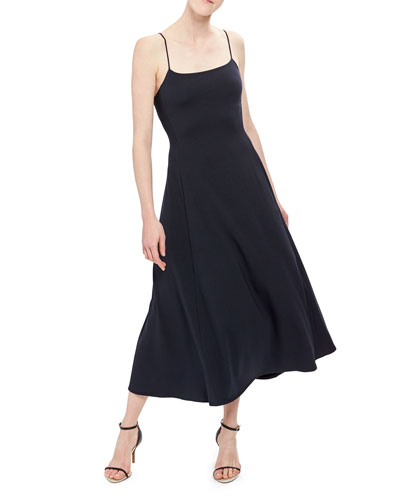Rubric Square-Neck Paneled Midi Tank Dress