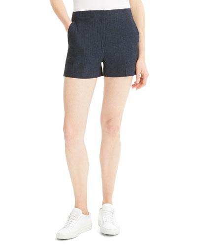 Eco Sharkskin Mini Shorts
