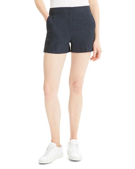 Theory Eco Sharkskin Mini Shorts