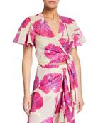 Diane von Furstenberg Hailey Printed Short-Sleeve Beach Wrap