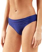 Heidi Klein Amoudi Bay Scalloped Fold-Over Bikini Bottom