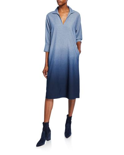 Nicole Chambray Ombre Shift Dress