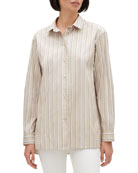 Lafayette 148 New York Everson Sierra Stripe Button-Down