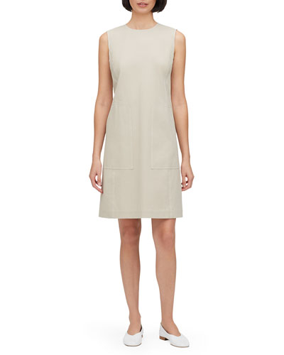 Giovanetta Sleeveless Fundamental Bi-Stretch Shift Dress