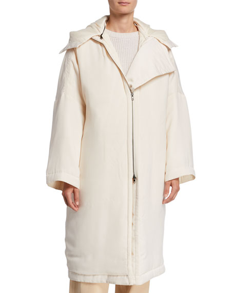 Vince Soft-Quilted Hooded Coat