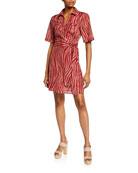 Diane von Furstenberg Alexa Animal-Print Coverup Wrap Dress