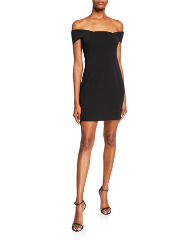 Lang Off-the-Shoulder Mini Dress