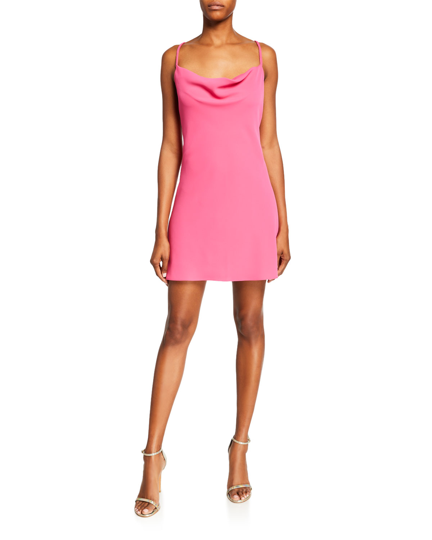 4b9873eb8f9 Jay Godfrey Devon Cowl-Neck Strappy-Back Mini Dress In Pink ...