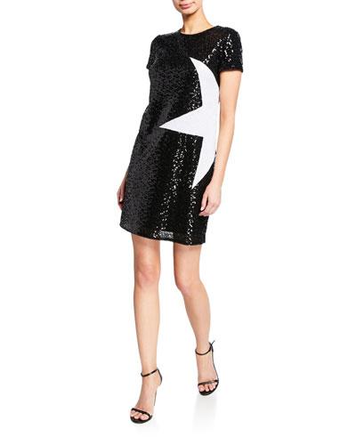 e51e35af4d1 Sequined Shift Dress