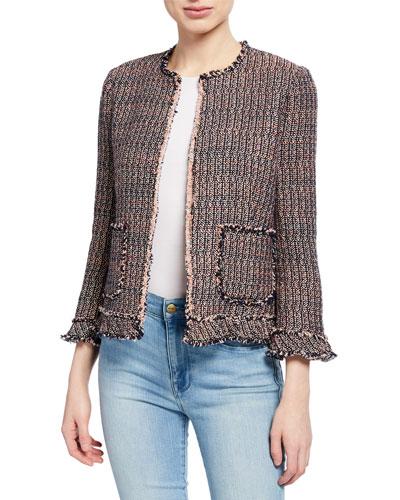 Tweed Ruffle jacket