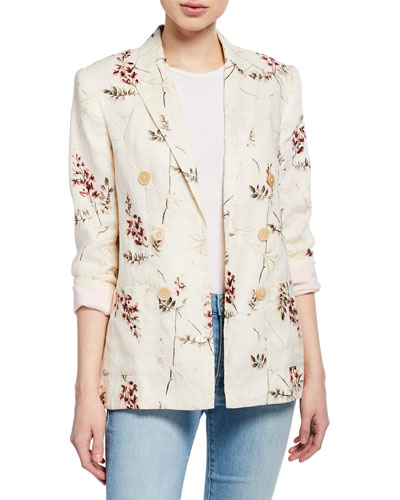 Ivie Embroidered Blazer