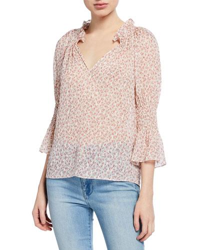 a989de9fff18 Rebecca Taylor Imported Silk Top   Neiman Marcus