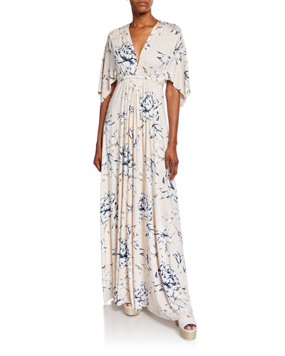 Long Plus Size Dress | Neiman Marcus