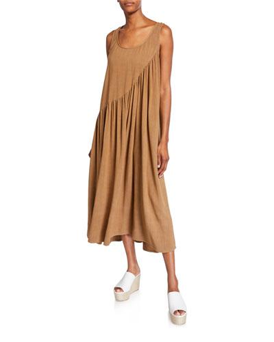 Linen Plus Size Dress | Neiman Marcus