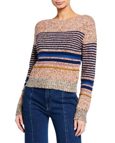 Club Room Merino Blend Contrast Trim Sweater Deep Black Small
