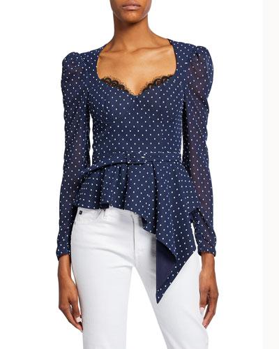 0201f885e18b45 Womens Polyester Peplum Top | Neiman Marcus