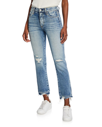 Rigid Babe High-Rise Slim Straight Jeans