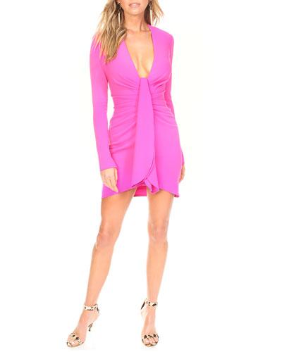 1a6a59cd1b6ab Draped Crepe Dress | Neiman Marcus