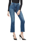 Good American Good Curve Straight Stretch Jeans -