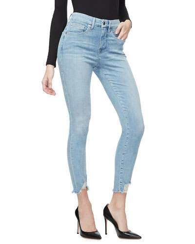 Good Legs Chewed Triangle Hem Jeans - Inclusive Sizing