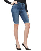 Good American High-Rise Power Stretch Bermuda Shorts -