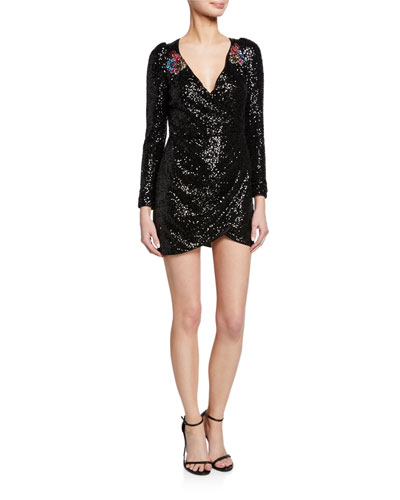 1f09ad91 Long Sleeve Sequined Cocktail Dress | Neiman Marcus