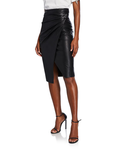 a5b3376259 Faux Leather Skirt | Neiman Marcus