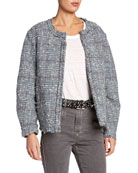 Etoile Isabel Marant Ovia Collarless Tweed Jacket