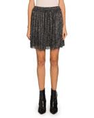 Etoile Isabel Marant Benedicte Pleated Metallic Short Skirt