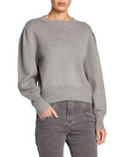 Etoile Isabel Marant Kelaya Puff-Sleeve Crop Sweater