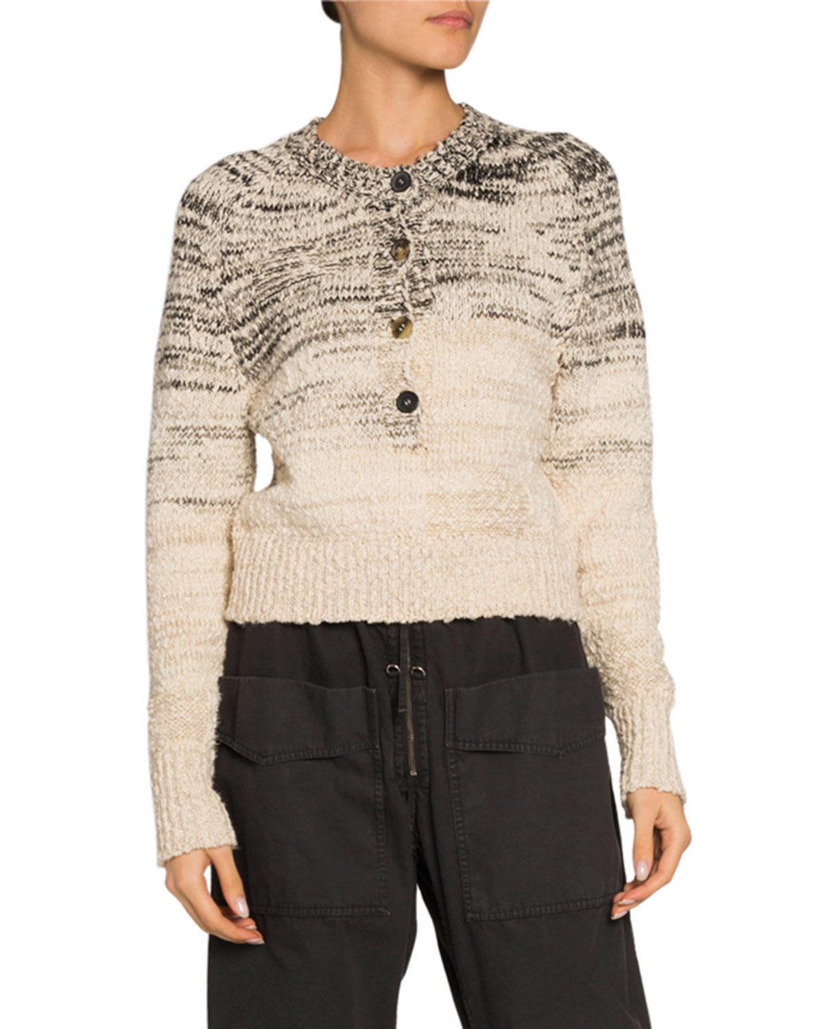 Etoile Isabel Marant Sweaters PATTY BUTTON-FRONT CREWNECK SWEATER