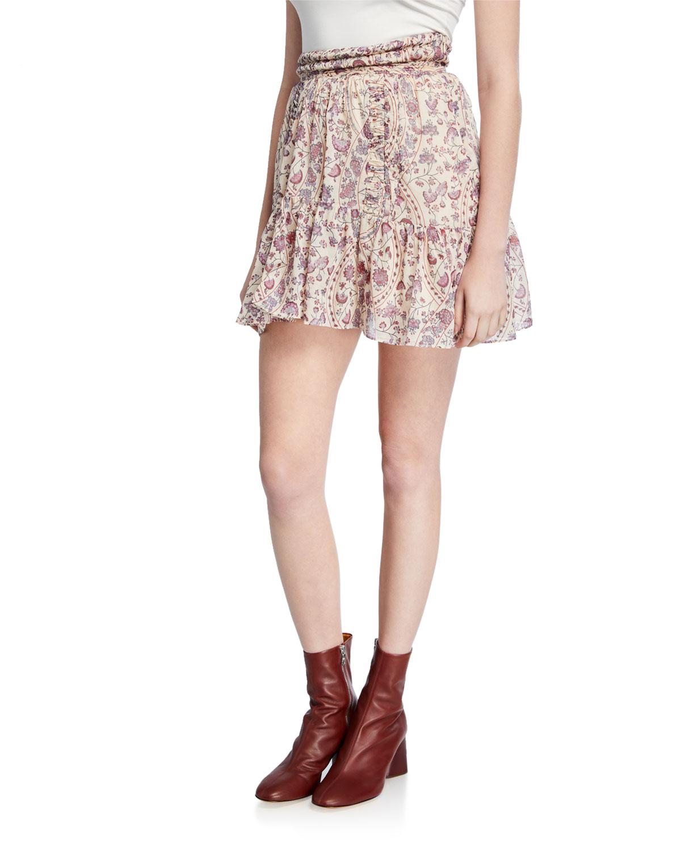 Etoile Isabel Marant Skirts LARAYA PRINTED FLOUNCE SKIRT