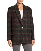 Etoile Isabel Marant Korix Single-Breasted Check Jacket