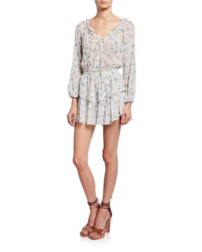 564444d5d Long Sleeve Tiered Skirt Dress