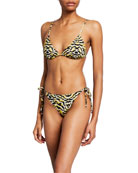 Etro Printed Side-Tie Two-Piece Bikini Set