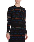 Kenzo Allover Logo Graphic Paris Jumper and Matching